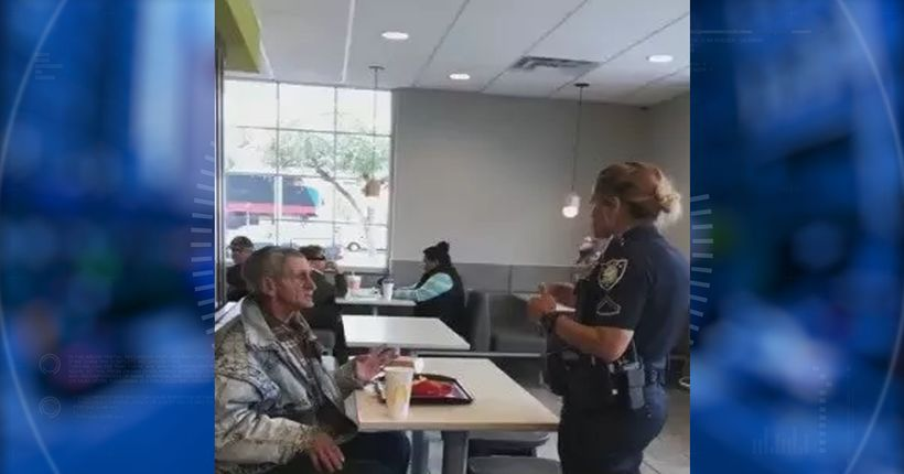 Video shows diner being kicked out of South Carolina McDonald's after paying for homeless man's meal