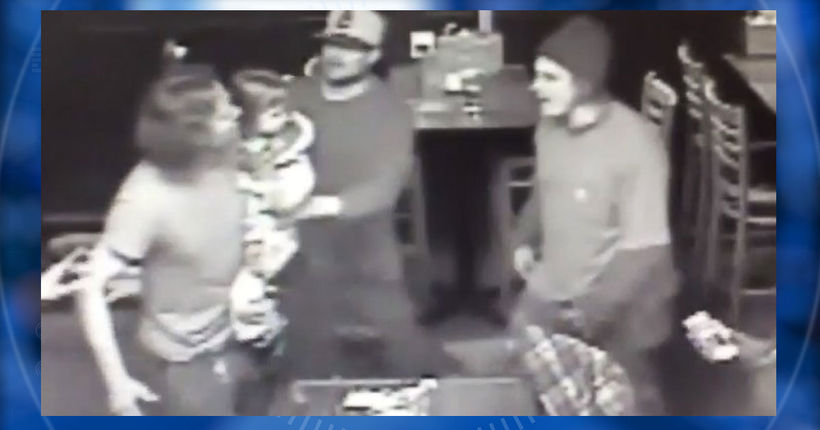 Video shows 4-year-old endangered in bar fight; suspects sought