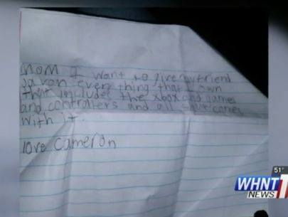 6th grader writes will in case he ever gets killed at school