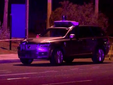 Self-driving Uber car hits, kills pedestrian in Tempe