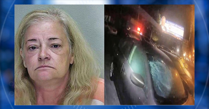 Florida woman breaks into car, starts fire as she naps