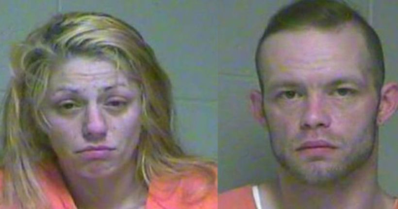 Police dig through clothes pile to find urine-soaked infants, couple arrested