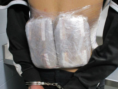 Teens arrested at border with fentanyl packages strapped to their backs
