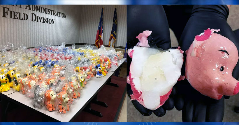 500 lbs. of meth worth approximately $2M found in Disney figurines