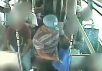 East L.A. bus stabbing suspect caught on camera arrested