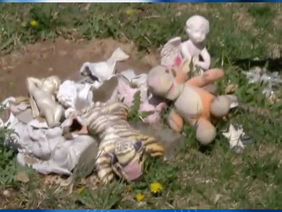 Parents devastated after mementos at baby grave sites destroyed