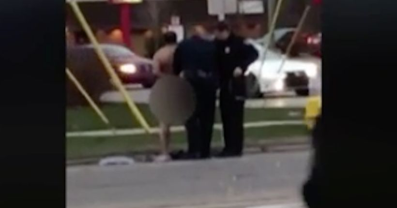 Dancing naked man arrested at scene of five-car accident in metro Detroit