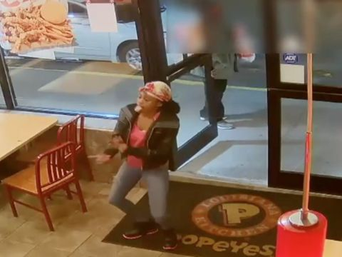 Woman smashes Staten Island Popeyes window over meal