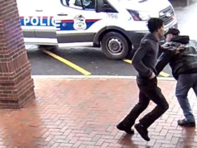 Video shows Good Samaritan trip armed suspect fleeing police