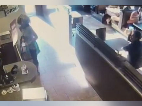 Woman throws poop at coffee shop worker who denied her restroom access