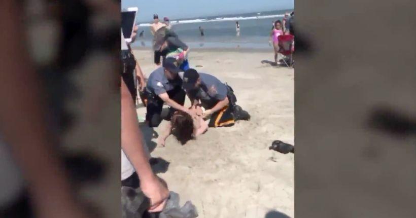 Footage of violent N.J. beach arrest goes viral