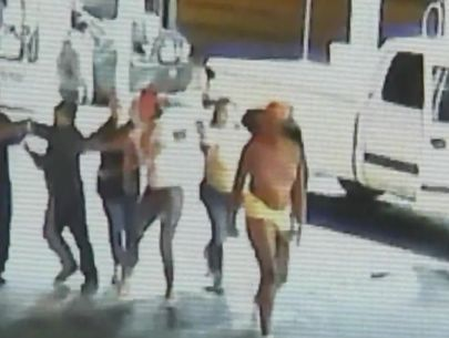 Video shows attack on fruit vendor family at gas station
