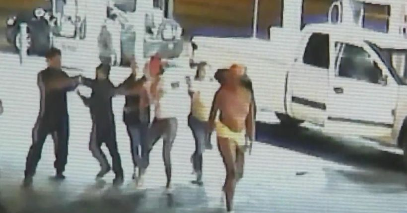 Video shows attack on fruit vendor family at gas station; 2 arrested, 2 others sought