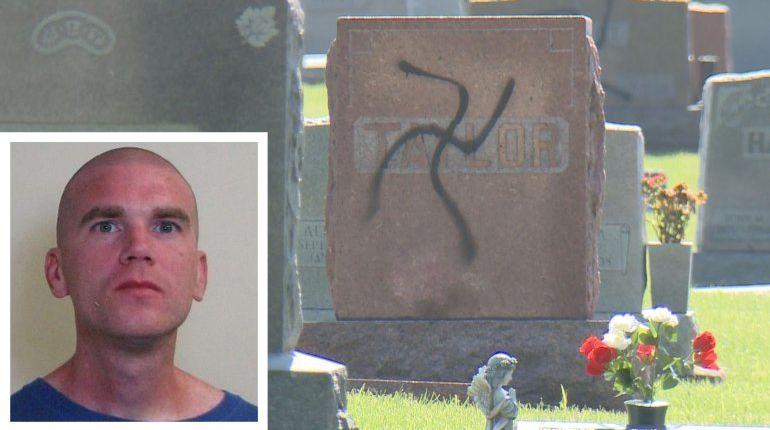 Man painted swastikas on more than 200 gravestones, prosecutors say