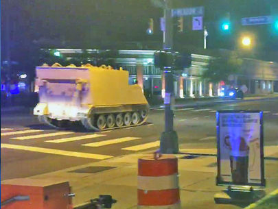 DUI suspect leads armored personnel vehicle chase into Richmond