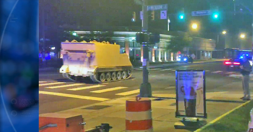 DUI suspect leads armored personnel vehicle chase into downtown Richmond