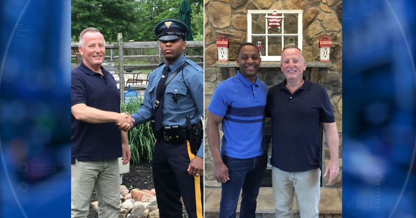 New Jersey trooper pulls over retired cop who delivered him 27 years ago