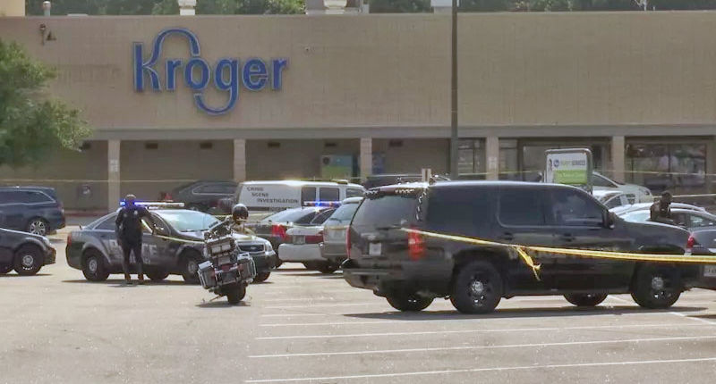 Three hit in parking lot shootout as man fires back at armed attackers at Kroger
