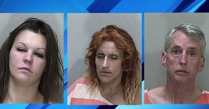 Three accused of tying woman to chair, beating her, police say