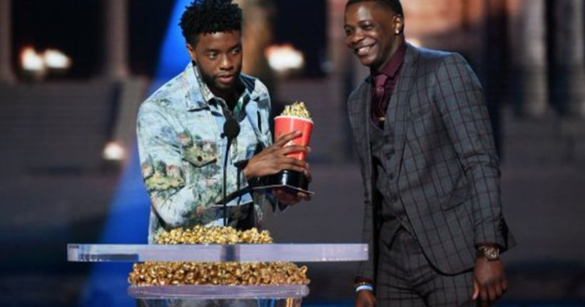 Chadwick Boseman gives his MTV Award for 'Best Hero' to man who stopped Waffle House gunman