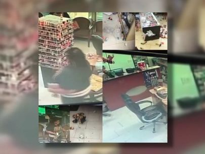 WATCH: Woman vandalizes nail salon in rampage caught on video