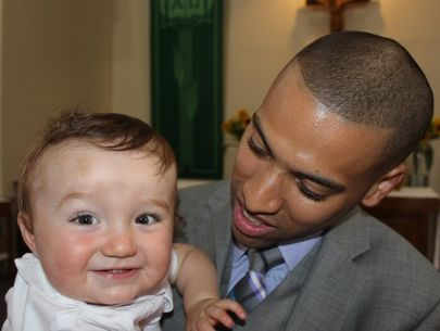 Cop named godfather of baby he saved during birth