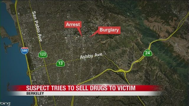 Alleged Berkeley burglar offers to sell his victim cocaine