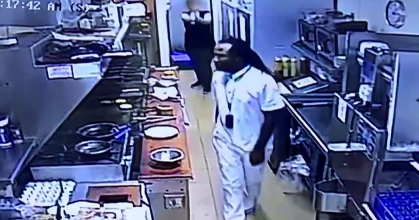 WATCH: Waitress with gun repels man who punched worker behind counter
