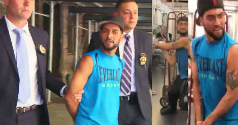 Man accused of fracturing subway rider's skull with metal pipe now in custody: police