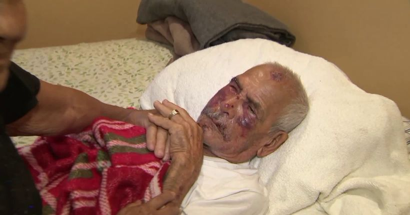 Man, 92, allegedly beaten with brick by woman, attacked by 4 men on Fourth of July; suspects sought