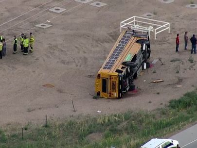 29 injured when truck driver falls asleep, crashes into school bus