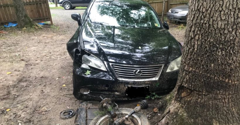 10-year-old driver with passenger, 7, wrecks Lexus en route to the beach