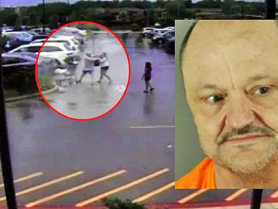 Woman with kids attacked in dispute over shopping cart; man arrested
