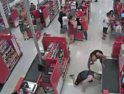 Dad tackles man accused of taking upskirt photos of Target shoppers