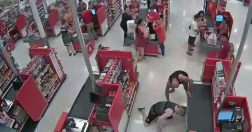 Father tackles man accused of taking upskirt photos of Target shoppers