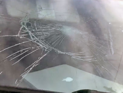 Man attacks news crew vehicles while covering story in Detroit
