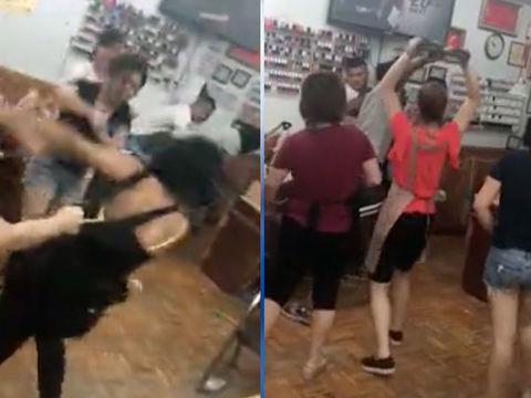 Video shows brooklyn nail salon brawl prompting calls for for Salon brawl