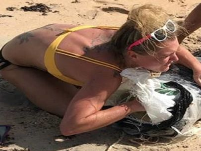Recognize this woman? Deputies think she took pot that washed ashore